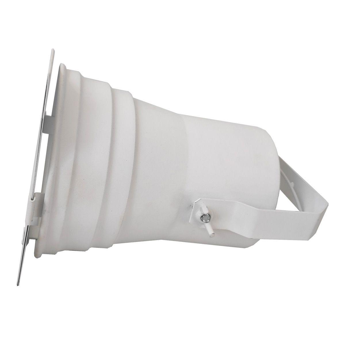 Spot Cênico Projetor Canhão Par38 Branco Com Haste E Porta Gelatina