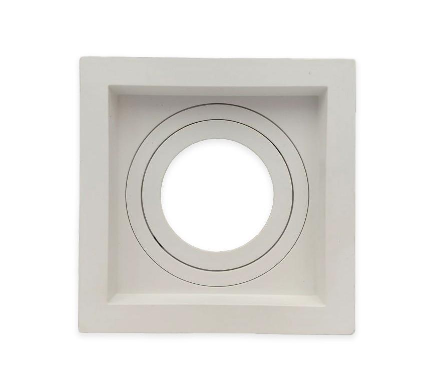 Spot Embutido Dicroica MR16 Quadrado Termoplastico Recuado Branco Save Energy