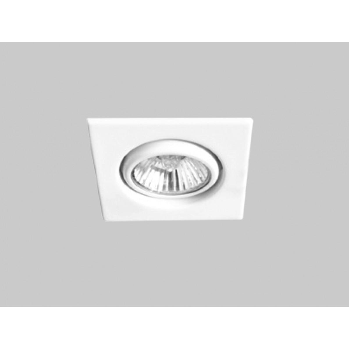 Spot Embutido Quadrado AR111 Branco Pop DL067 Bella