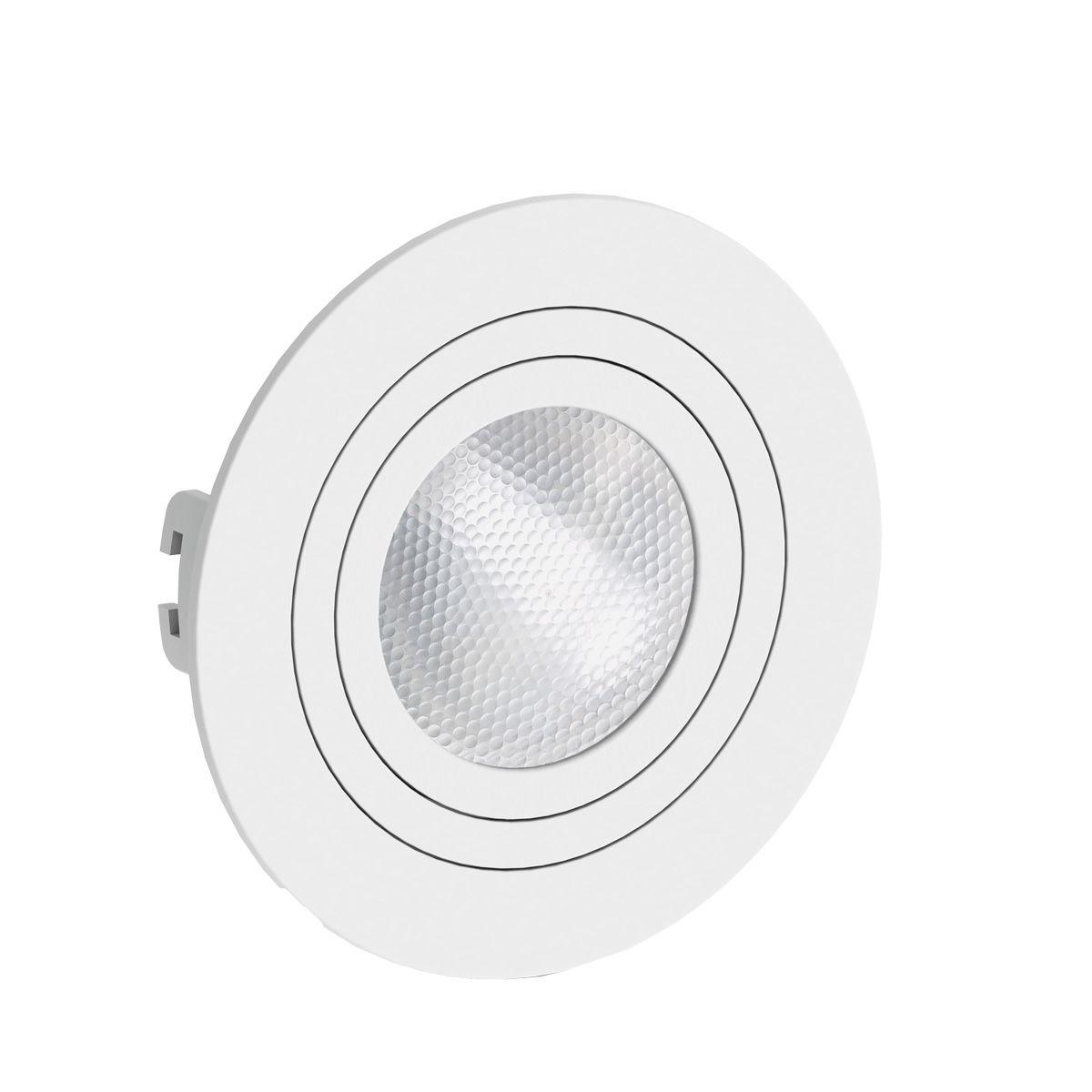 Spot Embutido Redondo Face Plana Direcionavel Par20 Branco Save Energy