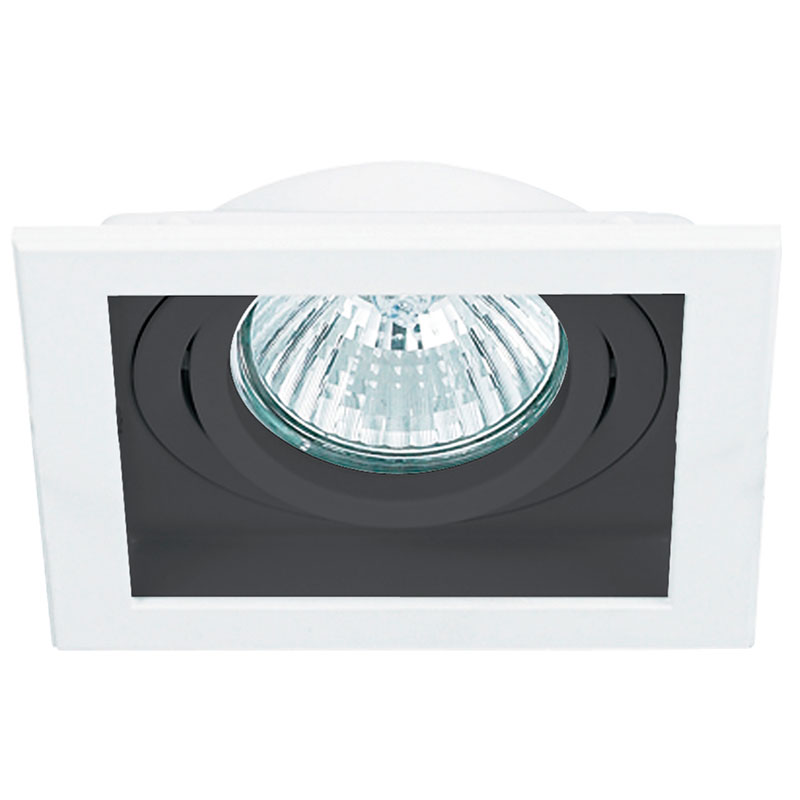Spot Embutir AR111 NS7111P Quadrado Branco/Preto Modular Sistema Click Bella