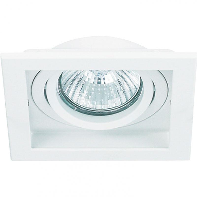 Spot Embutir AR111 Quadrado Branco Modular NS7111B