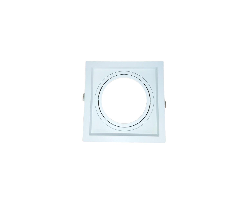 Spot Embutir AR111 Quadrado Termoplastico Branco Face Recuado Save Energy