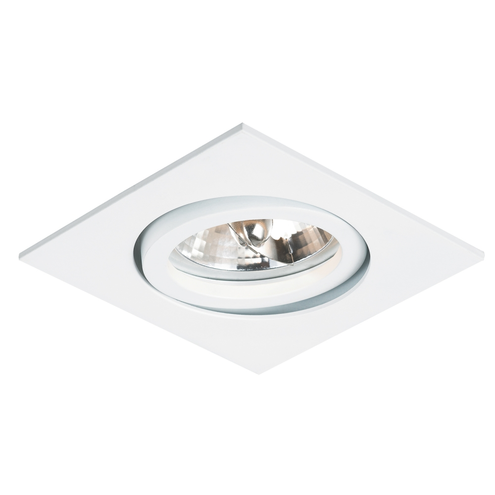 Spot Embutir AR111 Slim Quadrado Branco NS311Q Bella