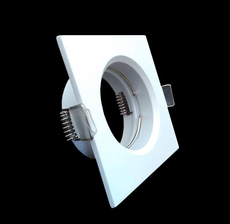 Spot Embutir Dicroica Fit Quadrado Branco NS1002B Bella