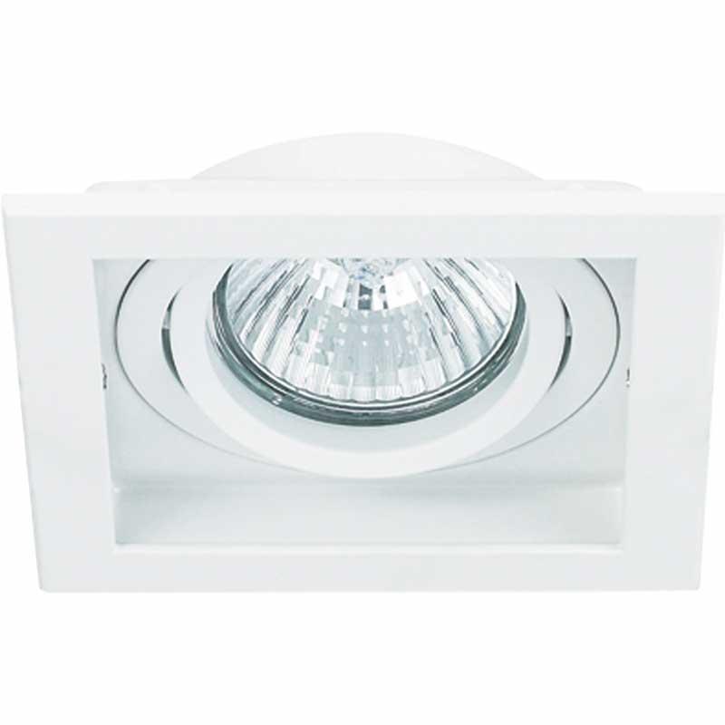 Spot Embutir Dicroica MR11 Conecta Quadrado Branco NS7351B Bella