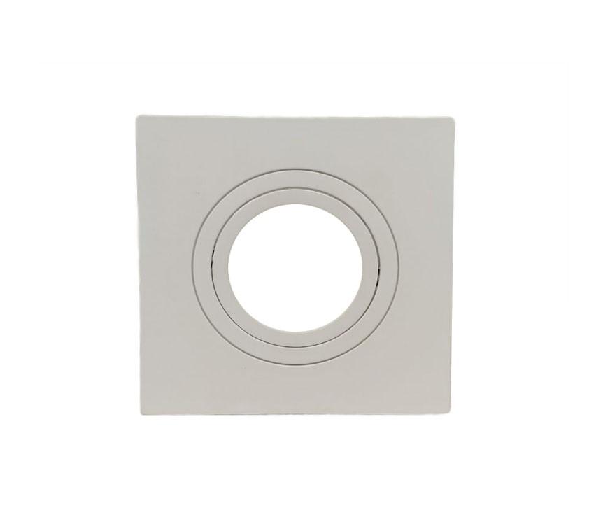 Spot Embutir Dicroica MR16 Quadrado Termoplastico Branco Face Plana Save Energy