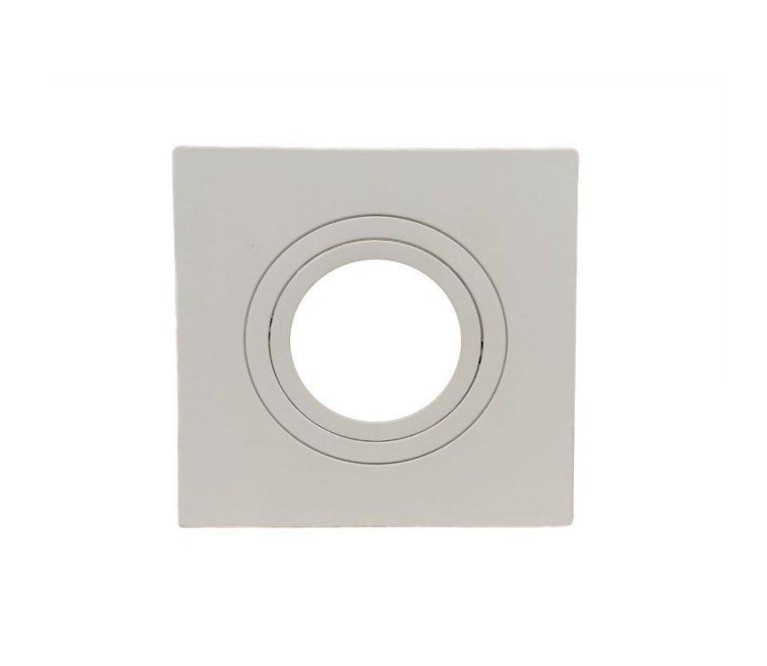 Spot Embutir Dicroica MR11 Quadrado Termoplastico Branco Face Plana Save Energy