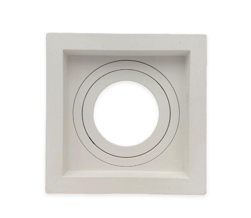 Spot Embutir Dicroica MR11 Quadrado Termoplastico Branco Face Recuada Save Energy