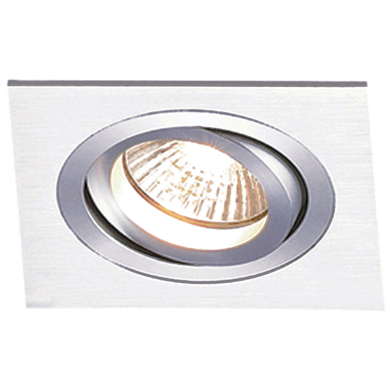 Spot Embutir Dicroica Quadrado Aluminio NS5601A Bella