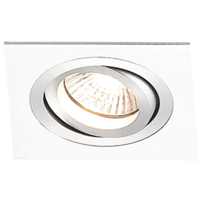 Spot Embutir Dicroica Quadrado Branco NS5601B Bella
