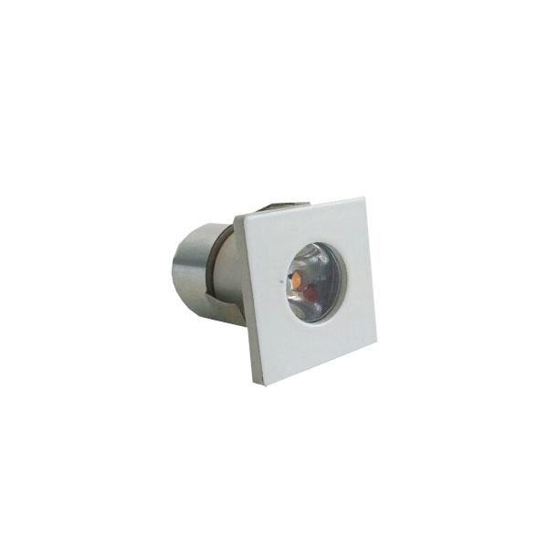 Spot Led Embutir Mini 1W 6000K Quadrado Branco