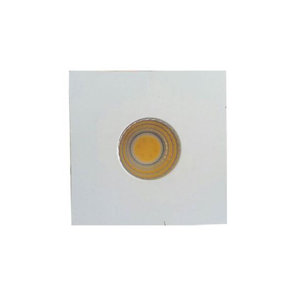 Spot Led Embutir Mini 3W 3000K 4,5CM Quadrado Branco