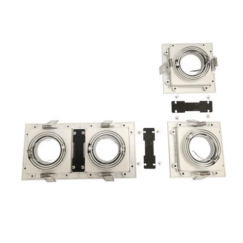 Spot Embutir PAR20 Quadrado Branco E Preto NS7201P