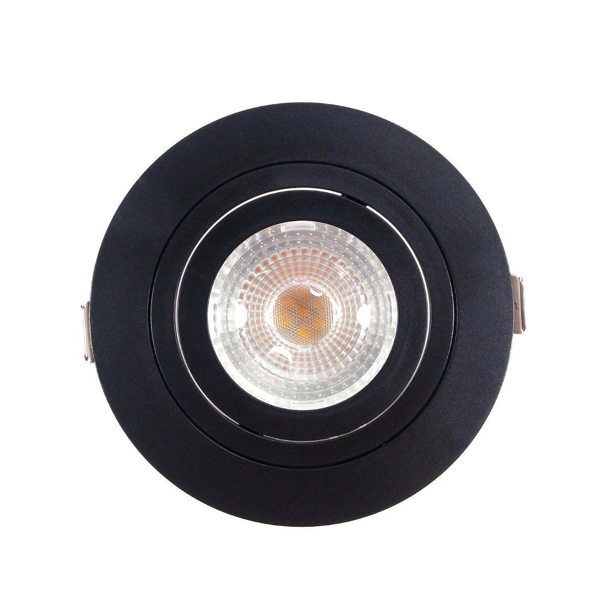 Spot Embutir Par 20 Preto + Lâmpada LED