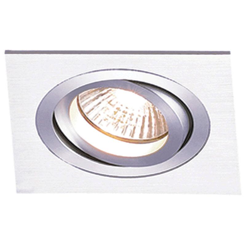 Spot Embutir PAR 20 Quadrado Aluminio NS5201A Bella