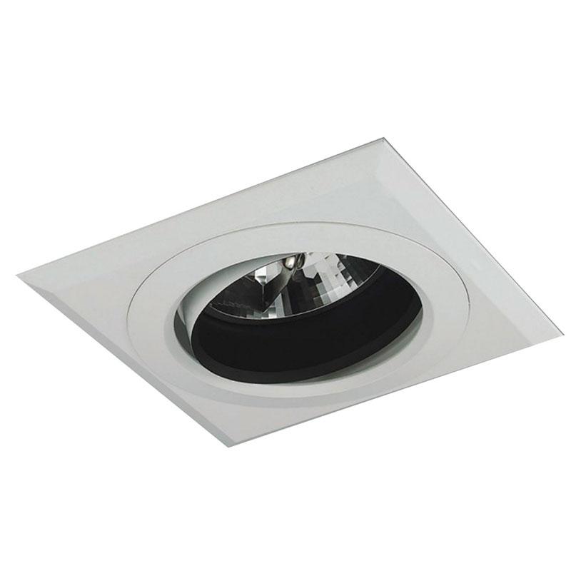 Spot Embutit PAR 20 Quadrado Branco Modular NS820 Bella