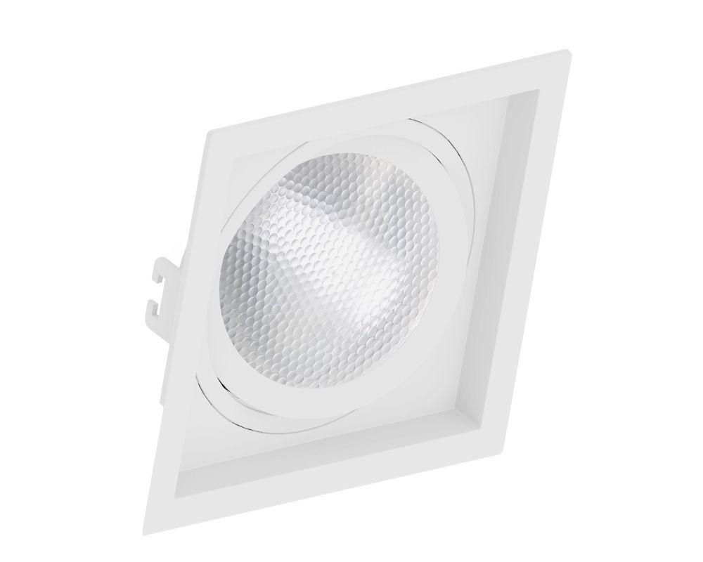 Spot Embutir Par 30 Quadrado Termoplastico Branco Face Recuado Save Energy