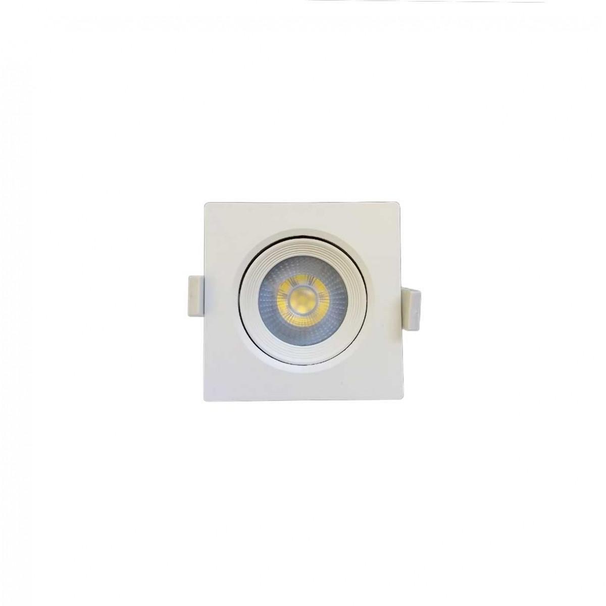 SPOT LED EMBUTIR QUADRADO BRANCO 5W 6500K EMBU LED