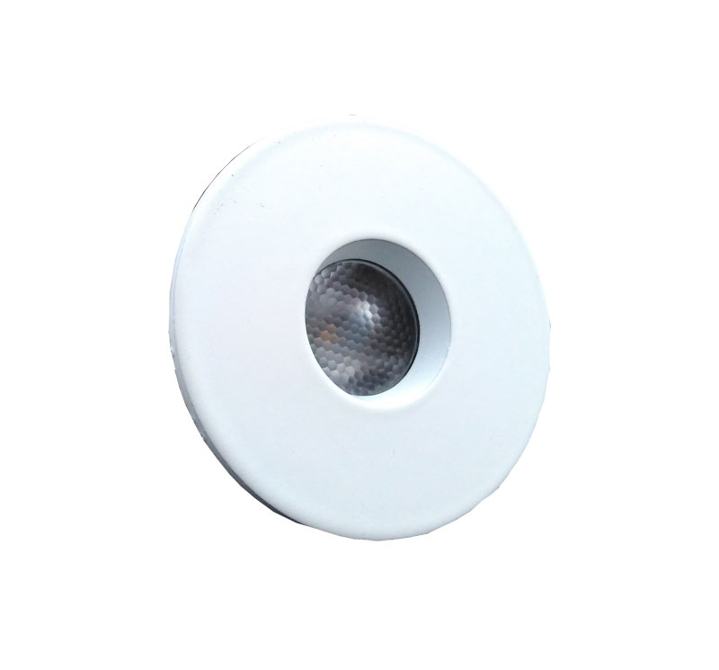 Spot Led Embutir Redondo Branco 3W 3000K NS1008L Bella