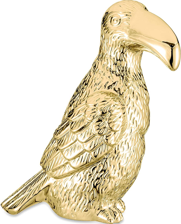 Tucano Decorativo Cerâmica Dourada 25CM 08646 Mart