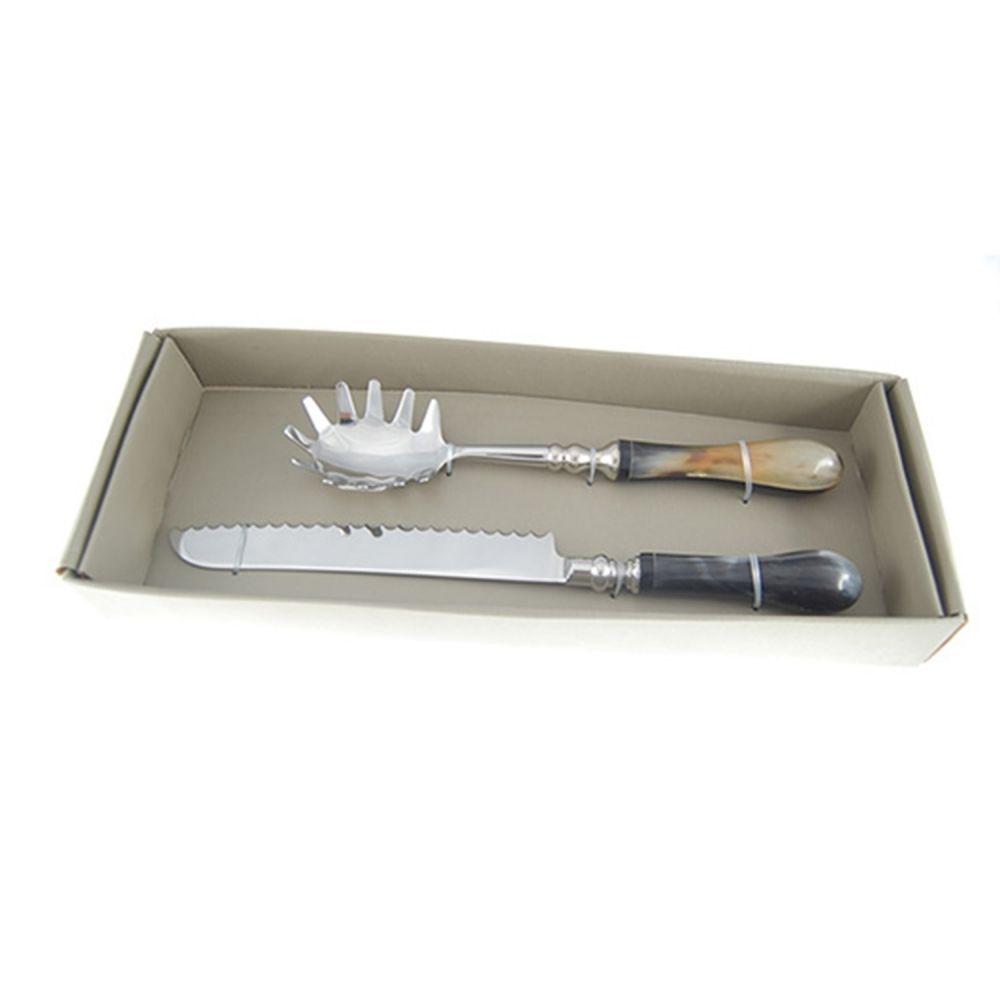 KIT Utensilios Domesticos Em Cerâmica 2 Peças Pegador e Faca de Pão BEI0057