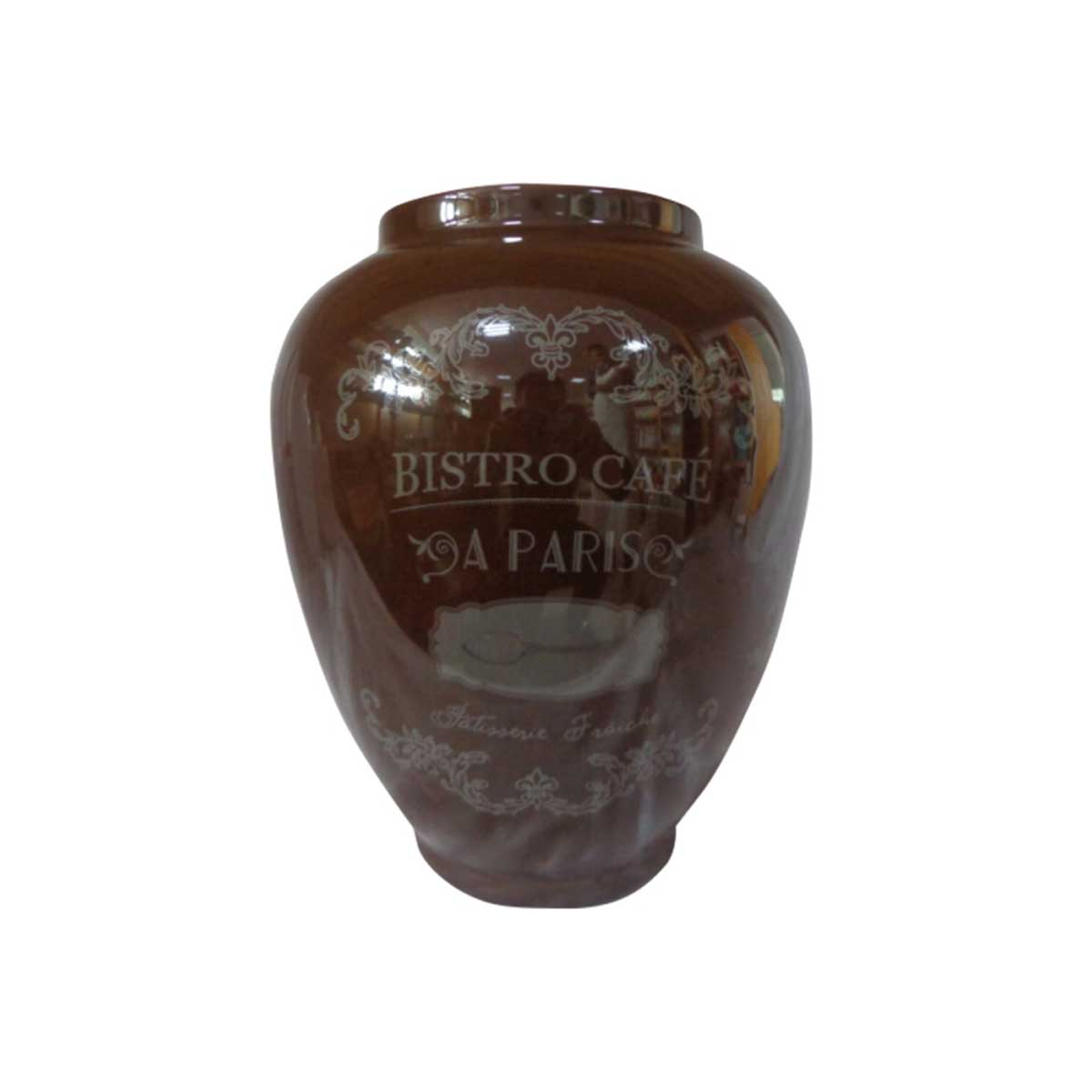 Vaso Decorativo Cerâmica Bistro Café 26x22CM