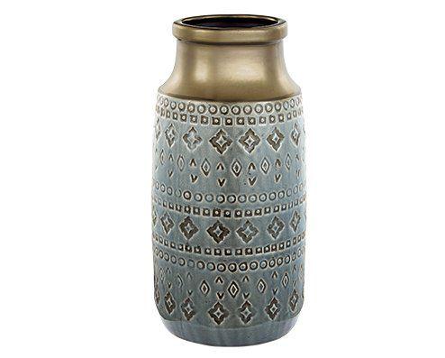 Vaso Decorativo Cerâmica Indigo 37X18,5CM 5595