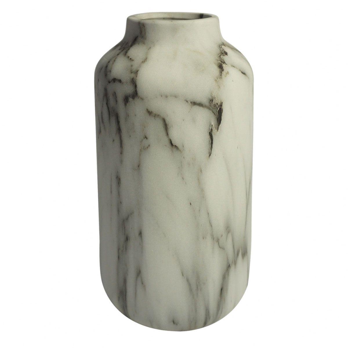 Vaso Decorativo Cerâmica Marmorizado 28CM