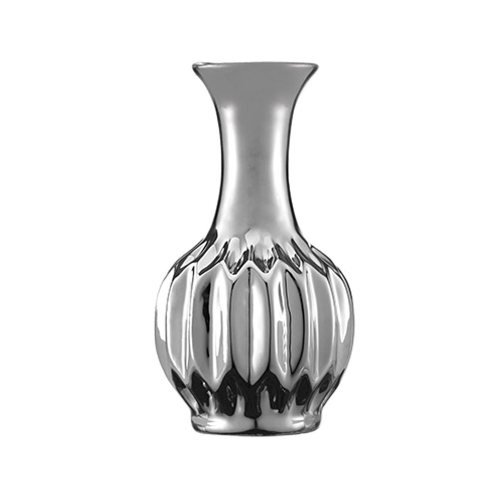 Vaso Decorativo Cerâmica Prata 12,5X6,5CM 5640 Mart Collection