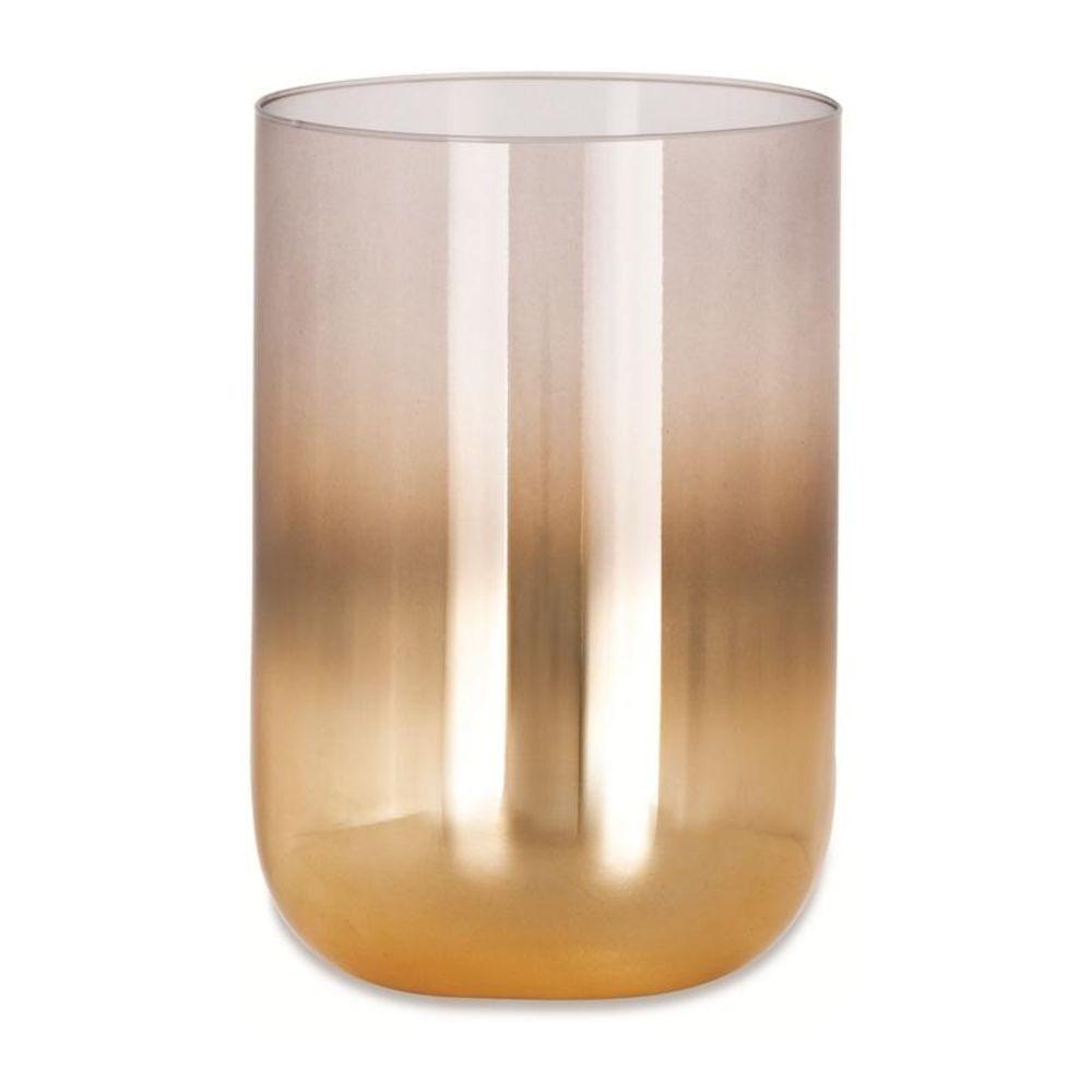 Vaso Decorativo Vidro Dourado Fumê 19cm 09689 Mart Collection