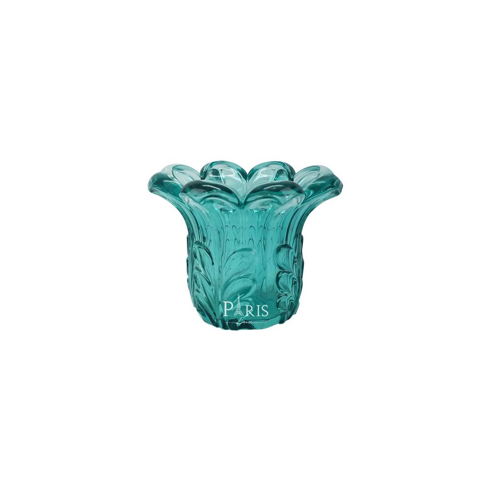 Vaso Decorativo Vidro Esmeralda 8x10cm 11308 Mart