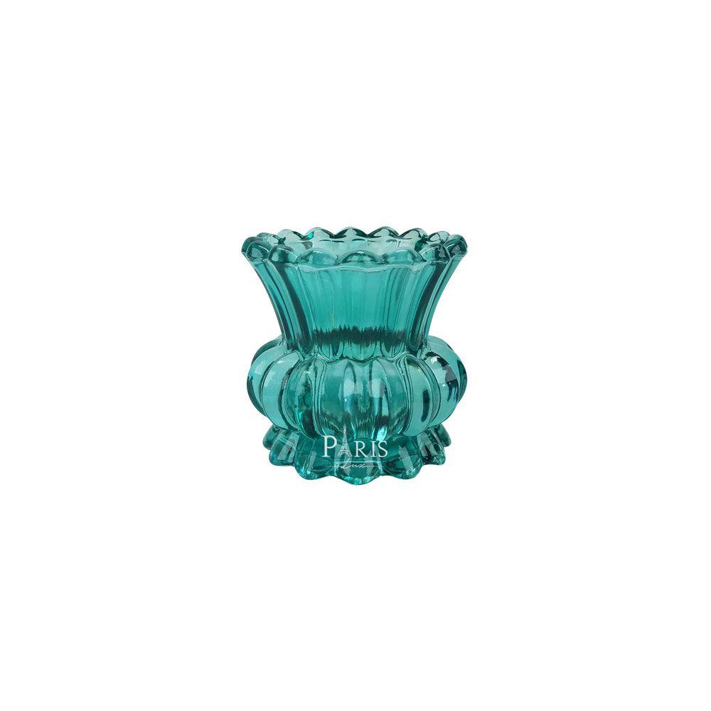 Vaso Decorativo Vidro Esmeralda 8x8cm 11312 Mart