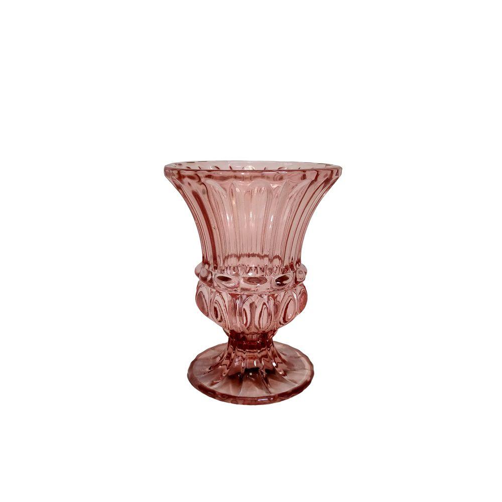 Vaso Decorativo Vidro Marsala 10,5x8cm 10373 Mart