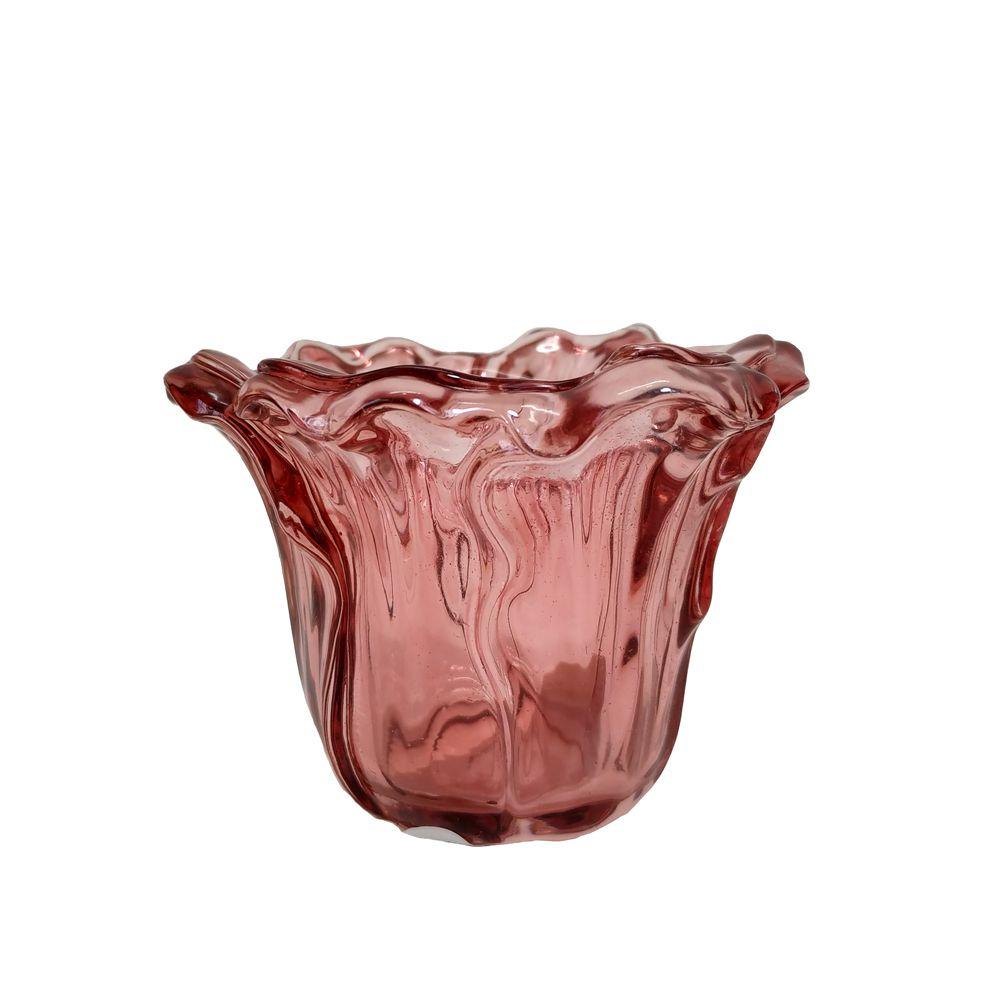 Vaso Decorativo Vidro Marsala 8x10,5cm 10384 Mart