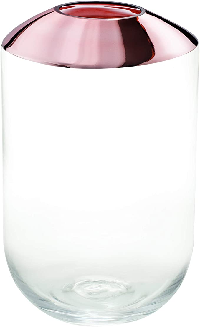 Vaso Decorativo Vidro Rose 22,5x14CM 09374 Mart Collection