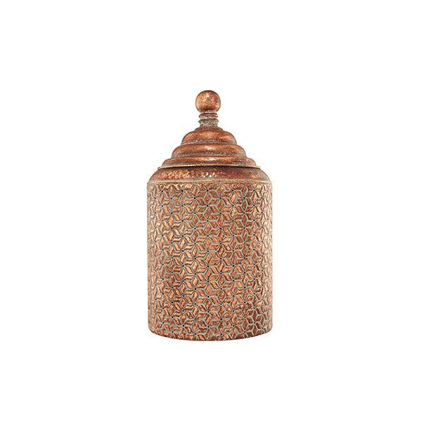 Vaso Potiche Metal Cobre 50,5x26x5CM 6313 Mart