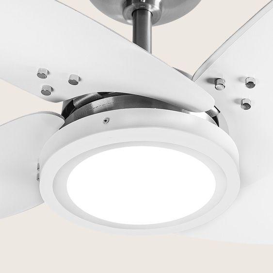 Ventilador de Teto Azzam Escovado 4 Pás Brancas LED 127v Tron