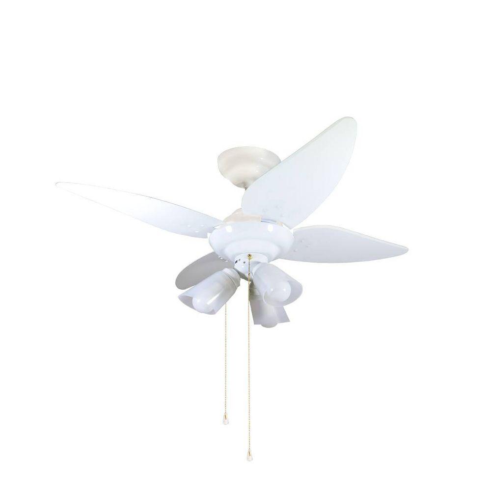 Ventilador Teto Salvante 4 Pás Branco Cordinha Tron 127V