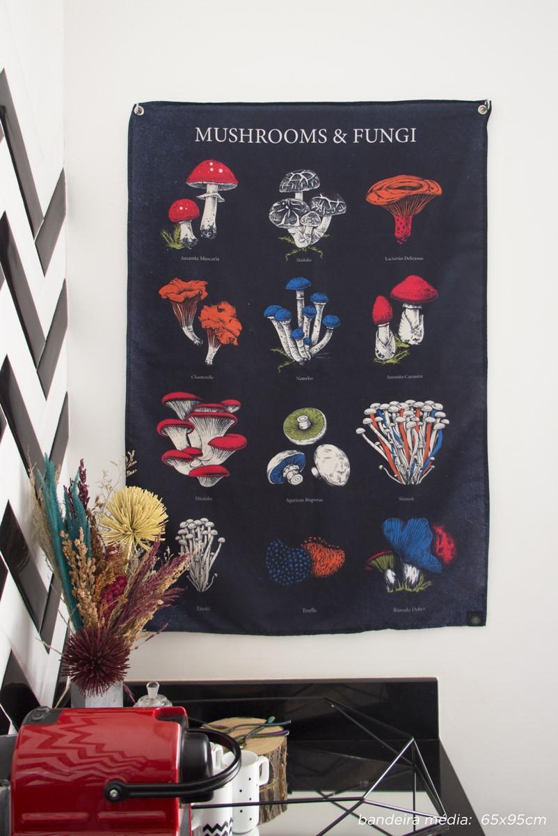Bandeira De Parede Cogumelos