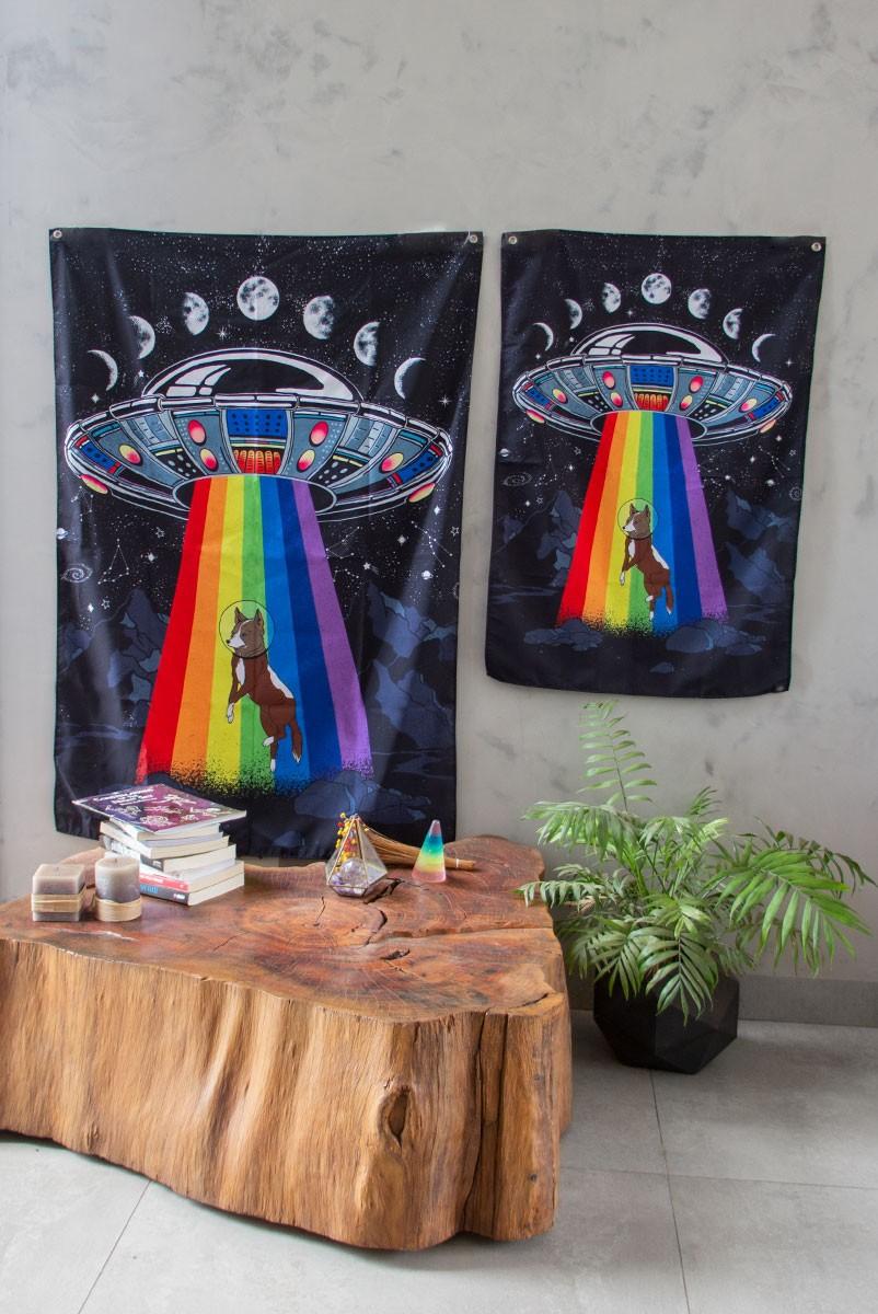 Bandeira De Parede Nave Space Dog