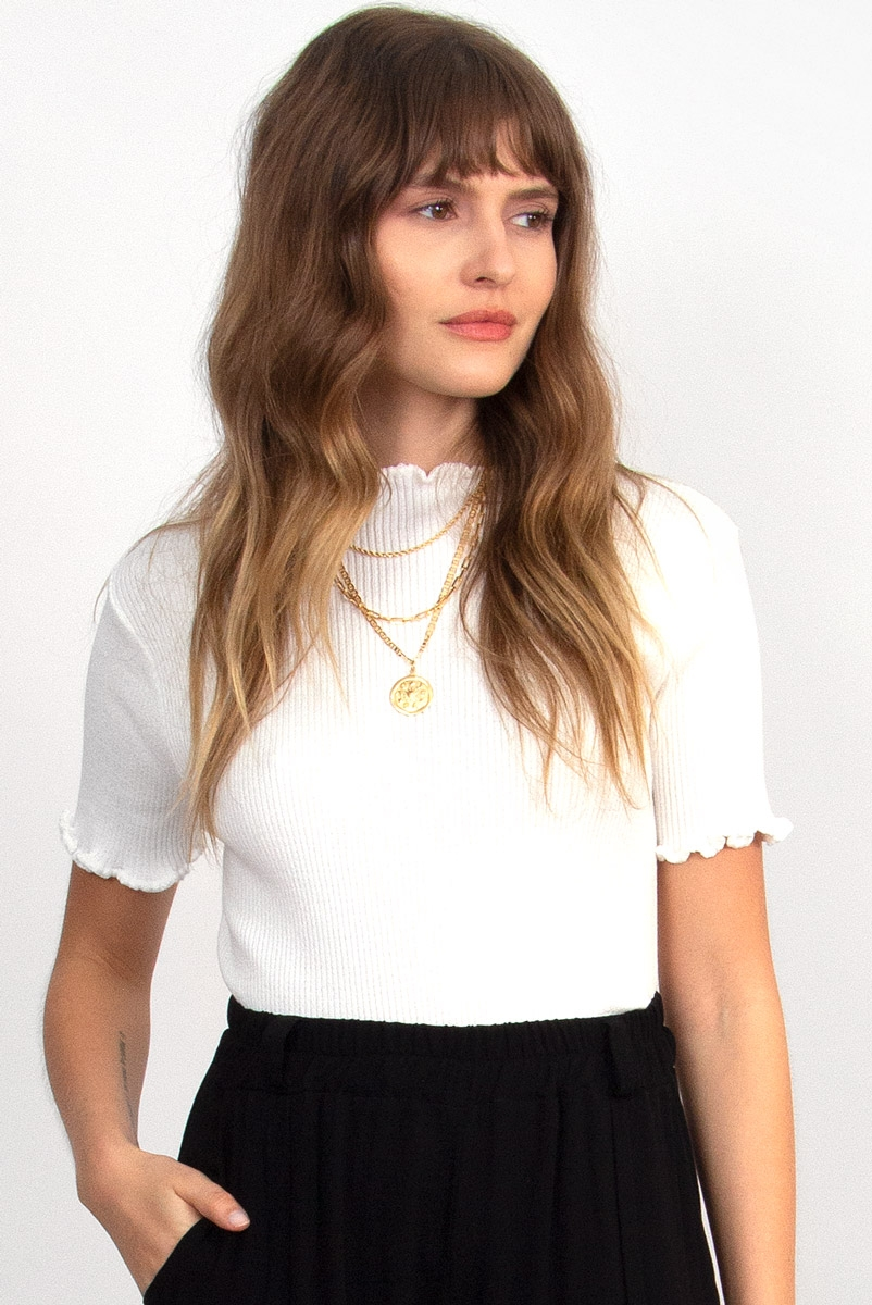 Blusa Baby Tricot Off White