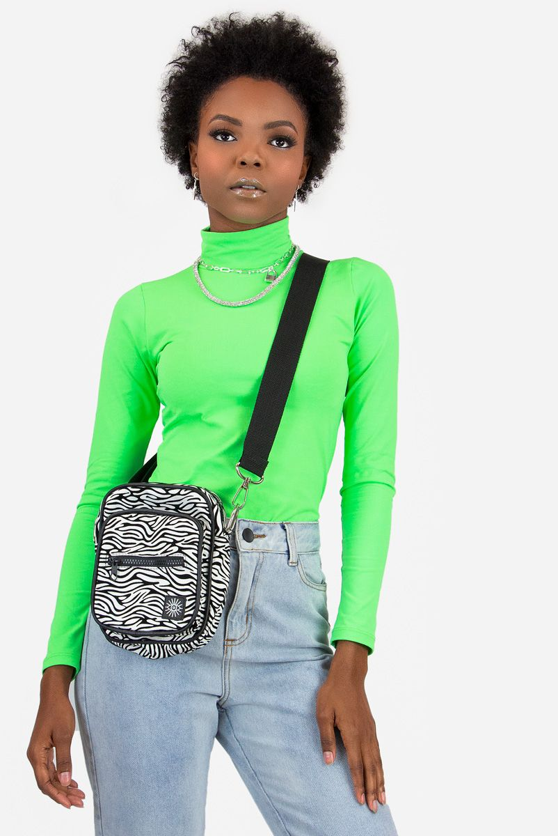 Blusa Turtleneck Neon Verde