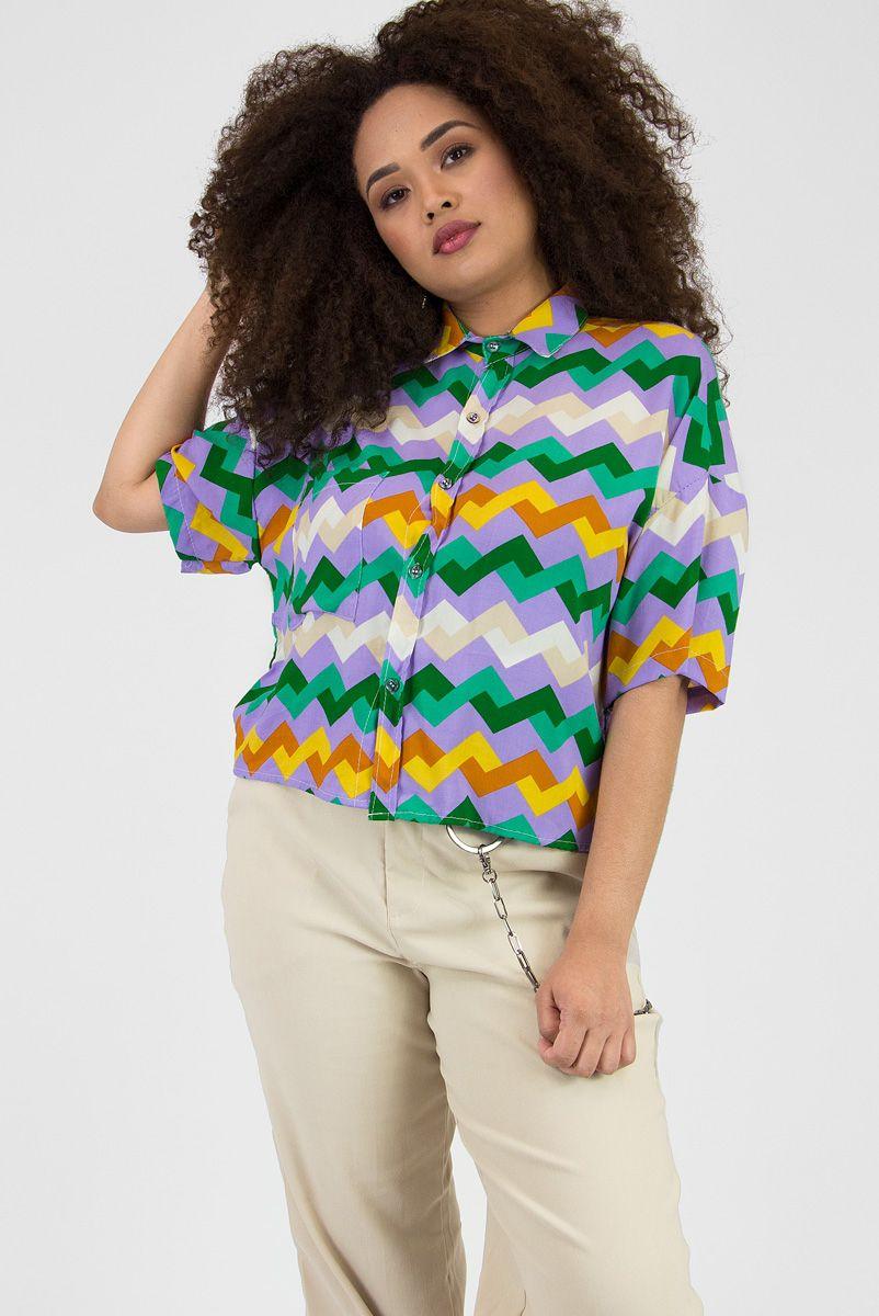 Camisa Lilás ZigZag