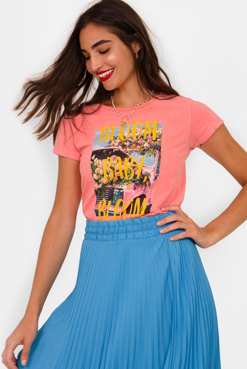 Camiseta Baby Look Buquê Baby, Bloom