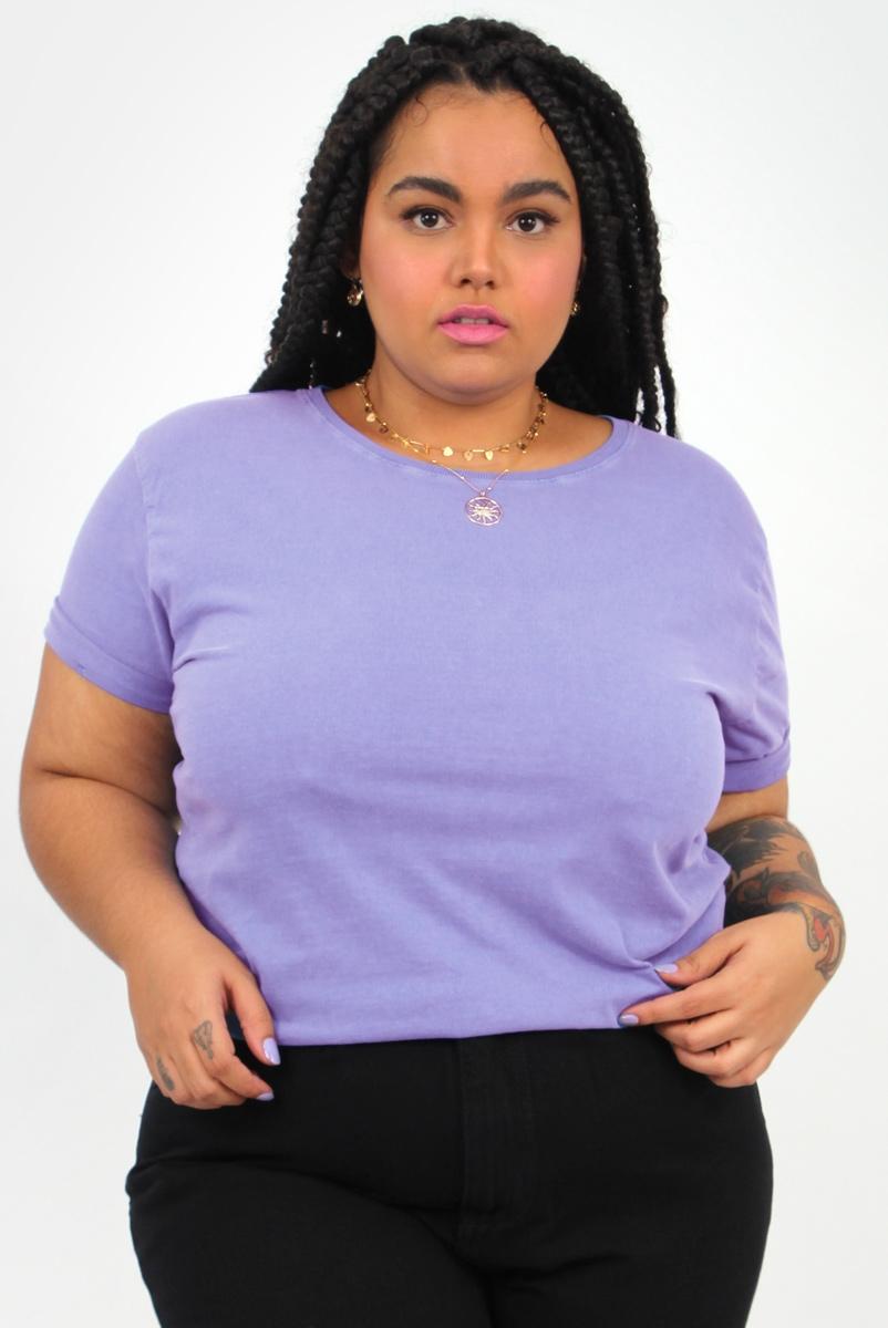 Camiseta Babylook Basic Lilás