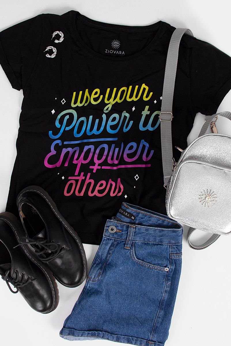 Camiseta Babylook Empower Degradê