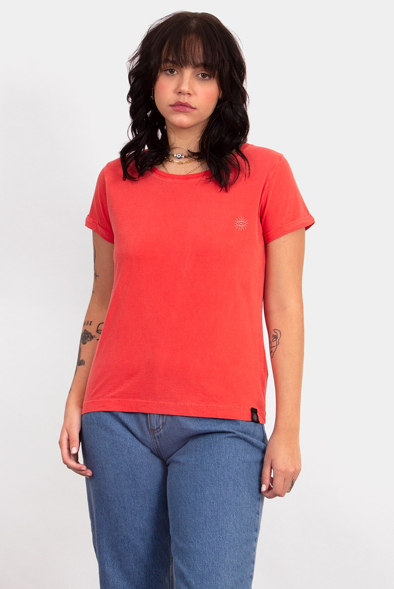 Camiseta Babylook Logo Vermelha