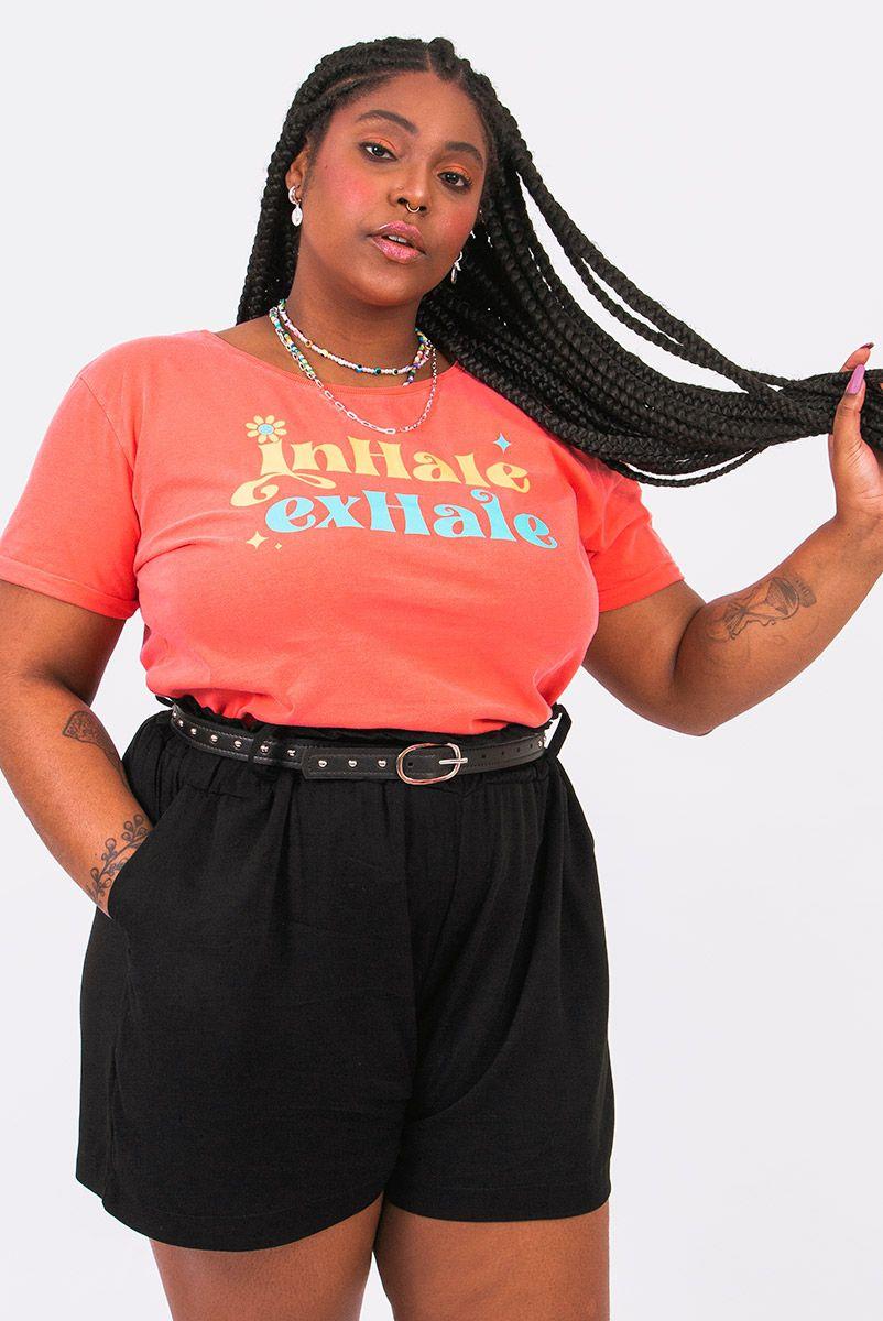 Camiseta Babylook PLUS Inhale Exhale