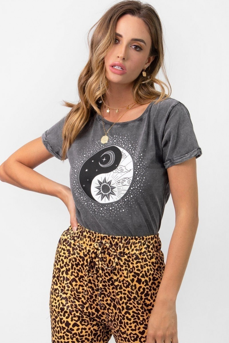 Camiseta Babylook Yin Yang